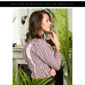 The Shirt by Rochelle Behrens Tops - The Shirt by Rochelle Behrens The Ruffle Shirt
